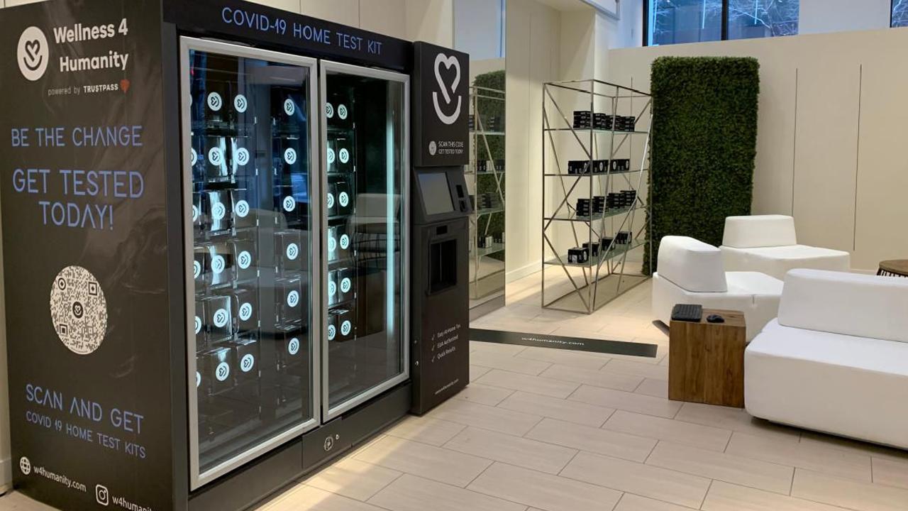 Máquinas de venda automática de teste de Covid-19 da Wellness 4 Humanity