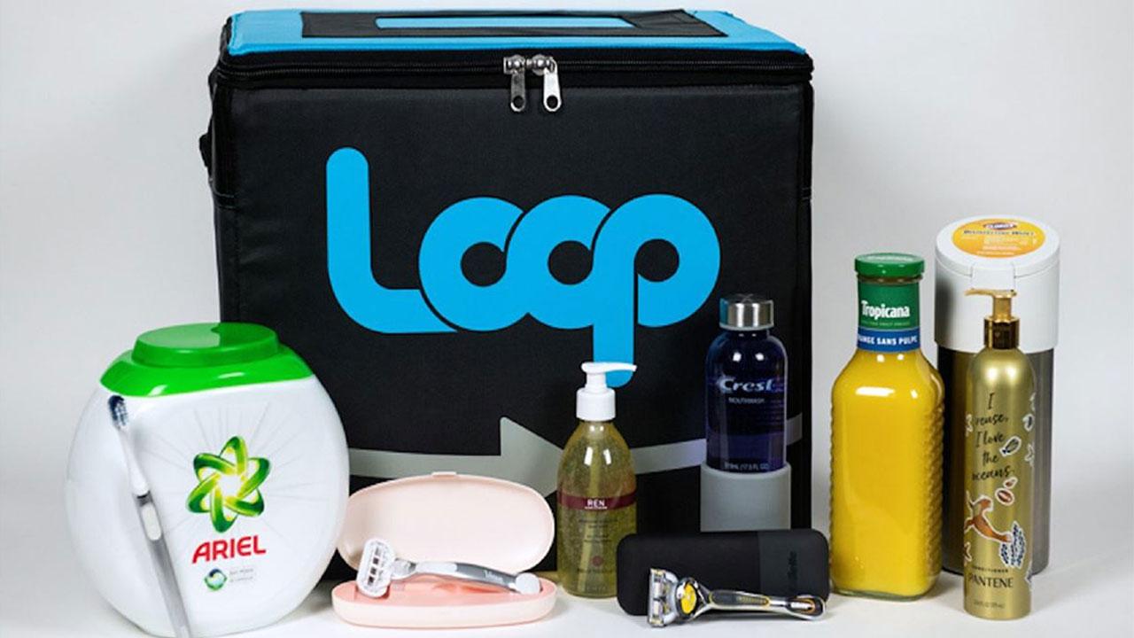 Embalagens reutilizáveis Loop